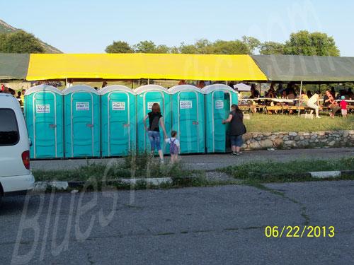 Сопот Рок Фест 2013 - тоалетни, осигурени от организаторите на фестивала Сопот Рок Фест 2013